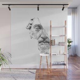 MARCUS AURELIUS ANTONINUS AUGUSTUS / black / white Wall Mural