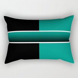 Team Colors 6...Teal, black Rectangular Pillow