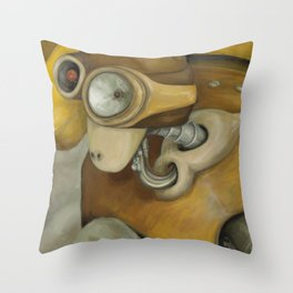 The Miner Throw Pillow