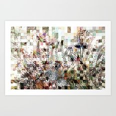 Checkered Meadow Art Print