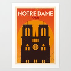 Paris City Retro Poster Art Print