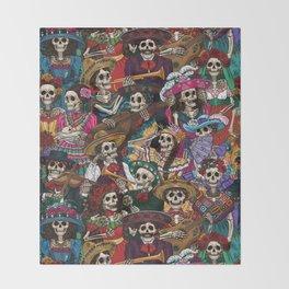 Dia De los Muertos Throw Blanket
