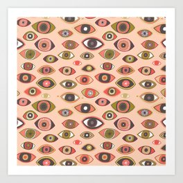 Pattern Project #16 / Hungry Eyes Art Print