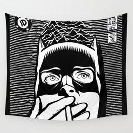 Post-Punk Bat Black & White Wall Tapestry