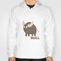 bull Hoodies featuring Bull by Thomas Official