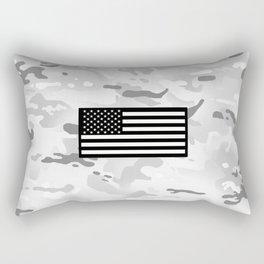 Arctic Camouflage: Black Flag Rectangular Pillow
