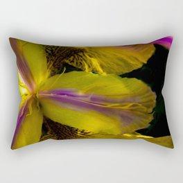 inside a lily Rectangular Pillow