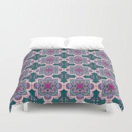 Floral ornamet tile Duvet Cover