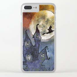 Halloween Horror Scene Clear iPhone Case