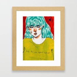Help the cause against loneliness Framed Art Print