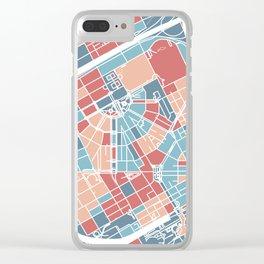 Detroit map Clear iPhone Case