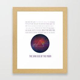 On the dark side of the moon Framed Art Print