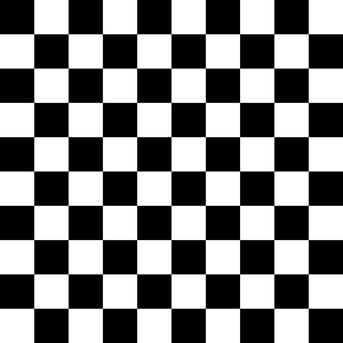 Checkered Pattern: Black & White Duvet Cover