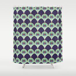Peacock Feather Art Deco Shower Curtain