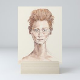 Red Head Smirk Mini Art Print