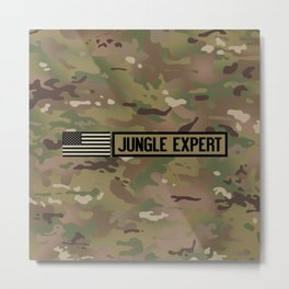Jungle Expert (Camo) Metal Print