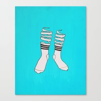 socks Canvas Prints featuring SOCKS by The Flying Fortress