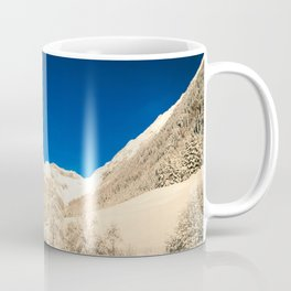 Sunny day in the alps after the snowfall Coffee Mug