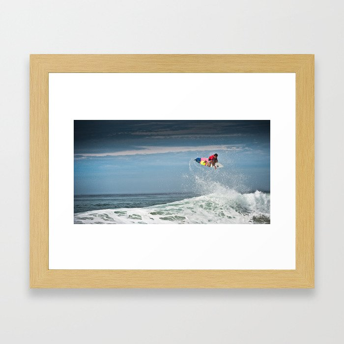 Julian Wilson at the World Tour of Surf in France, 2013. Framed Art Print