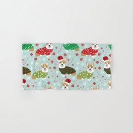 Corgi sweater christmas ugly sweaters dog breed welsh corgis holiday Hand & Bath Towel