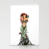poison ivy Stationery Cards featuring Poison Ivy by Ayse Deniz