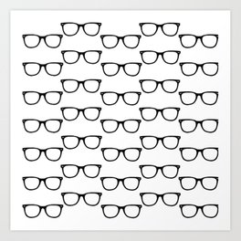 Black Funky Glasses Art Print