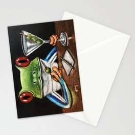 """""""Martini"""" - Frogs After Five collection Stationery Cards"""