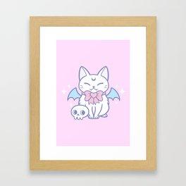 Bat Kitten 02 Framed Art Print
