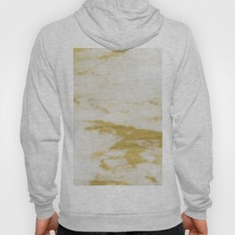 Marble - Shimmery Gold Marble and White Hoody