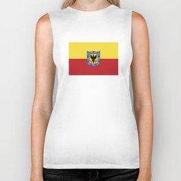 bogota city flag Biker Tank