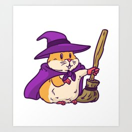 witch hamster Art Print
