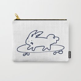 Skateboard Bunny RABBITS TALKING Carry-All Pouch