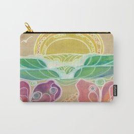Double Hibiscus Surf Art by Lauren Tannehill Art Carry-All Pouch