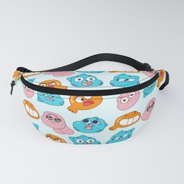 Gumball Faces Pattern Fanny Pack