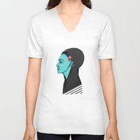 elf V-neck T-shirts featuring Elf by Adelinne