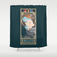 Malta Nouveau -  Sea Prince and the Fire Child Shower Curtain