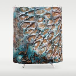 Turquoise peace Shower Curtain