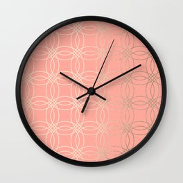 Simply Vintage Link in White Gold Sands and Salmon Pink Wall Clock
