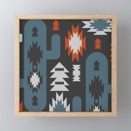 Tribal cacti Framed Mini Art Print