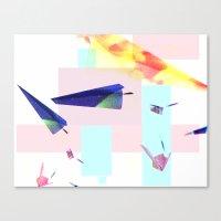 planes Canvas Prints featuring Planes by StazKnak