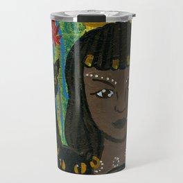 Cat Goddess Bast Travel Mug