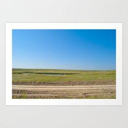 Nebraska is Flat, man. Art Print