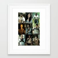 maze runner Framed Art Prints featuring The Maze Runner Character's by TK Studios