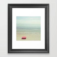 A deep breath. Framed Art Print