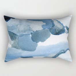 Pre-Dawn: a pretty, dramatic, mixed-media piece in shades of blues Rectangular Pillow