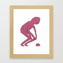 Brain man Framed Art Print