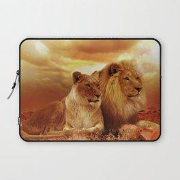 Lion couple | Couple de Lion Laptop Sleeve