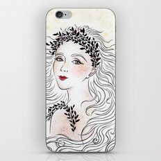 Silver and Ivory iPhone & iPod Skin