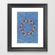 Sock Monkey Water Ballet Vertical Framed Art Print