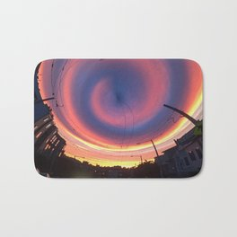 Spiral Street Sunset Bath Mat